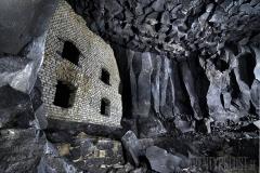 Fabriksvägg i gruva