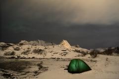 En av nätterna i tält