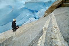 Självporträtt vid glaciären