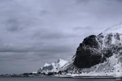 Berg i svart och vitt