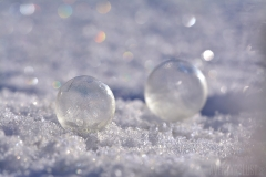 Bubblor i snön
