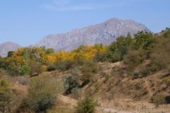 Höstfärger bland bergen