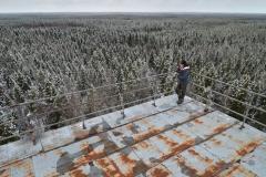 Utsikt från gruvlaven